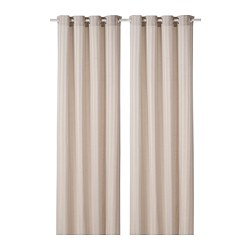 MAJRID - Curtains, 1 pair, beige