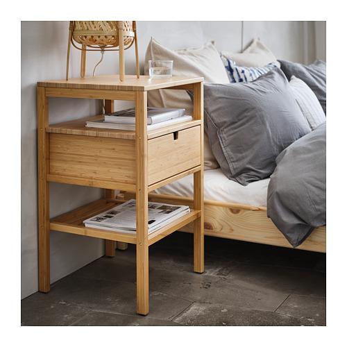 NORDKISA meja samping tempat tidur