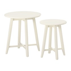 KRAGSTA - KRAGSTA, meja bersusun, set isi 2, putih