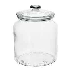 VARDAGEN - Jar with lid, clear glass