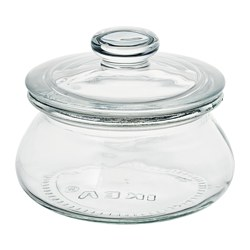 VARDAGEN - Jar with lid, clear glass, 0.3 l
