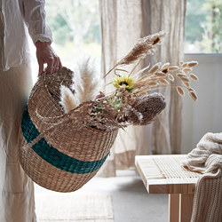 TJILLEVIPS - Basket, seagrass green