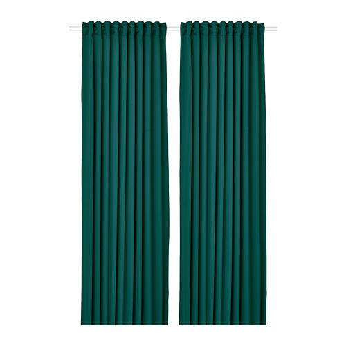 MAJGULL - block-out curtains, 1 pair, dark turquoise, 145x250 cm   IKEA Indonesia - PE783706_S4