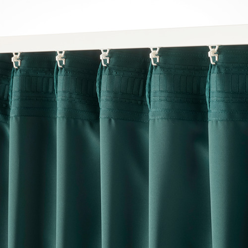 MAJGULL - block-out curtains, 1 pair, dark turquoise, 145x250 cm   IKEA Indonesia - PE783707_S4