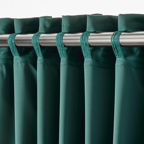 MAJGULL - block-out curtains, 1 pair, dark turquoise, 145x250 cm   IKEA Indonesia - PE783708_S4