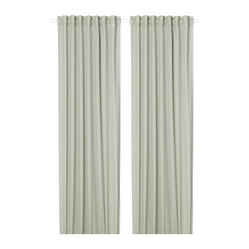 SILVERLÖNN - sheer curtains, 1 pair, light green, 145x250 cm   IKEA Indonesia - PE783722_S4