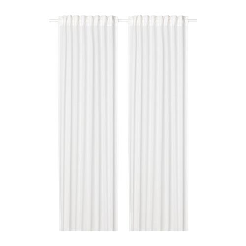 SILVERLÖNN - sheer curtains, 1 pair, white, 145x250 cm | IKEA Indonesia - PE783726_S4