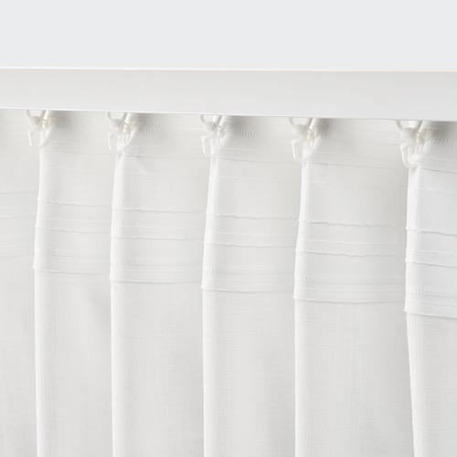 SILVERLÖNN - sheer curtains, 1 pair, white, 145x250 cm | IKEA Indonesia - PE783727_S4