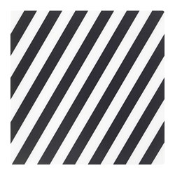 PIPIG - Place mat, striped/black/white
