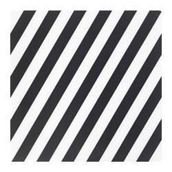 PIPIG - Alas piring, garis-garis/hitam/putih