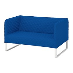 KNOPPARP - 2-seat sofa, Knisa bright blue
