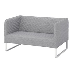 KNOPPARP - 2-seat sofa, Knisa light grey