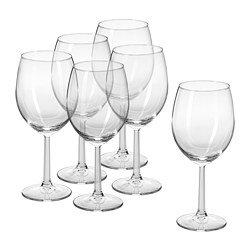 SVALKA - Wine glass, clear glass