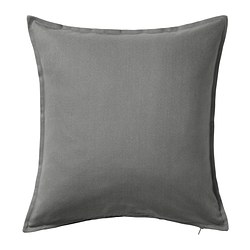 GURLI - GURLI, sarung bantal kursi, abu-abu, 50x50 cm