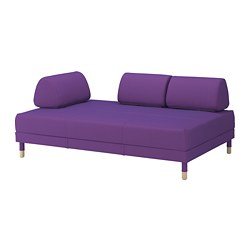 FLOTTEBO - Sofa-bed, Vissle purple