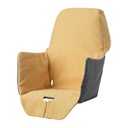 LANGUR - Padded seat cover for highchair, yellow