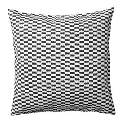 YPPERLIG - Cushion cover, black/white