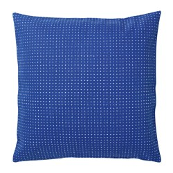 YPPERLIG - Cushion cover, blue/dotted