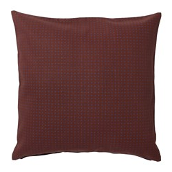 YPPERLIG - Cushion cover, dark red/dotted