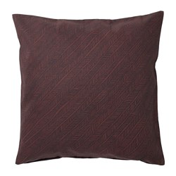 YPPERLIG - Cushion cover, dark red/striped