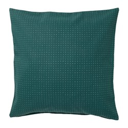 YPPERLIG - Cushion cover, green/dotted