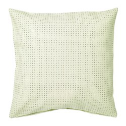 YPPERLIG - Cushion cover, light green/dotted