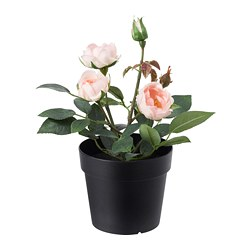 FEJKA - Artificial potted plant, in/outdoor/Rose pink