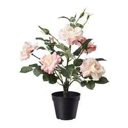 FEJKA - Tanaman tiruan dalam pot, dalam/luar ruang/Mawar merah muda