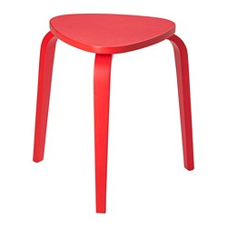 KYRRE - Stool, bright red