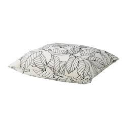 STOCKHOLM - Bantal kursi, putih/hitam/daun