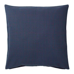YPPERLIG - Cushion cover, dark blue/dotted