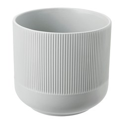 GRADVIS - Plant pot, grey