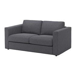 VIMLE - Sofa 2 dudukan, Gunnared abu-abu medium