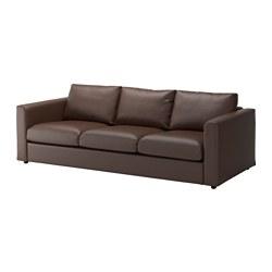 VIMLE - Sofa 3 dudukan, Farsta cokelat tua