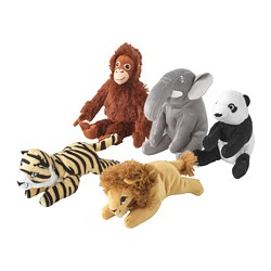 DJUNGELSKOG - Soft toy, assorted designs
