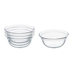 DRÖMBILD - Bowl, clear glass