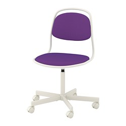 ÖRFJÄLL - Swivel chair, white/Vissle purple