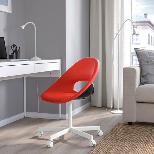 BLYSKÄR/ELDBERGET - kursi putar dengan alas , merah/putih   IKEA Indonesia - PE772633_S4