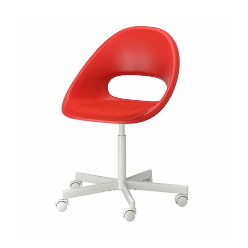 BLYSKÄR/ELDBERGET - kursi putar dengan alas , merah/putih   IKEA Indonesia - PE772634_S4