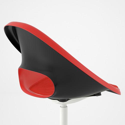BLYSKÄR/ELDBERGET - kursi putar dengan alas , merah/putih   IKEA Indonesia - PE772646_S4