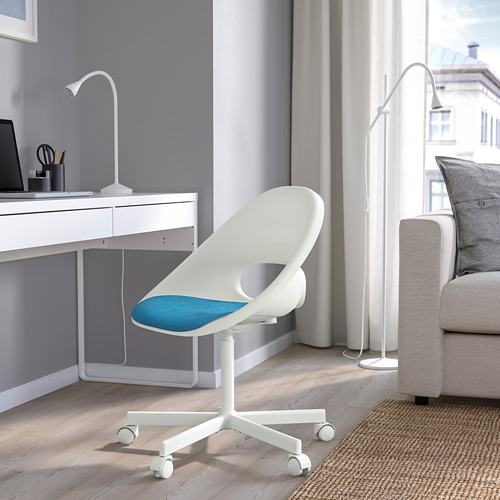 BLYSKÄR/LOBERGET - kursi putar dengan alas , putih/biru | IKEA Indonesia - PE772609_S4