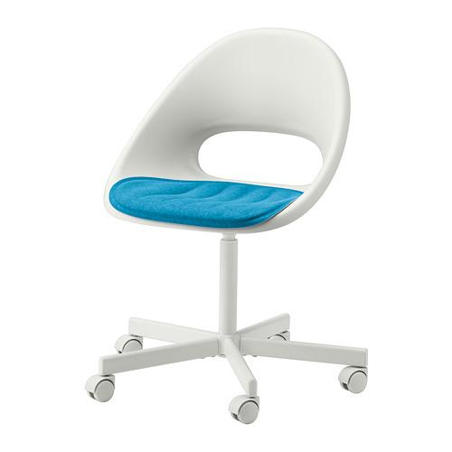 BLYSKÄR/LOBERGET - kursi putar dengan alas , putih/biru | IKEA Indonesia - PE772641_S4