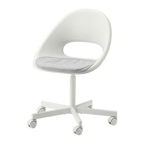 BLYSKÄR/LOBERGET - kursi putar dengan alas , putih/abu-abu muda   IKEA Indonesia - PE772614_S4