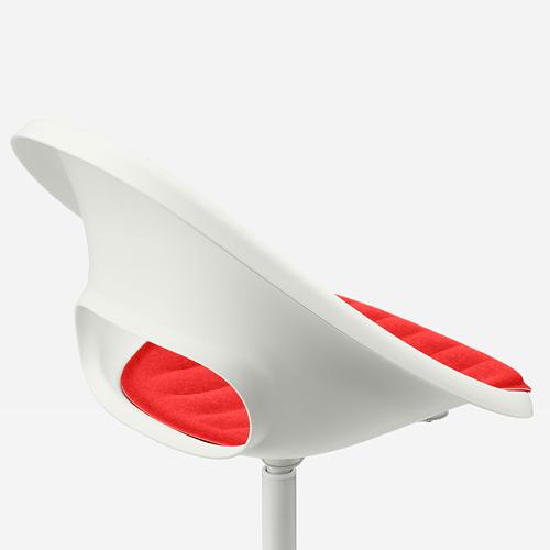 BLYSKÄR/LOBERGET - kursi putar dengan alas , putih/merah   IKEA Indonesia - PE772615_S4