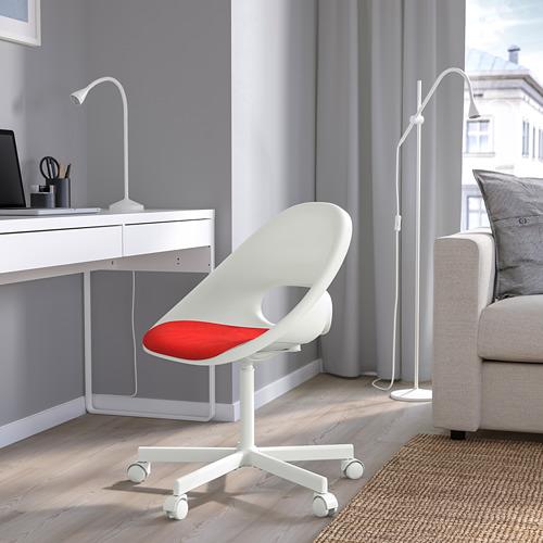 BLYSKÄR/LOBERGET - kursi putar dengan alas , putih/merah   IKEA Indonesia - PE772616_S4