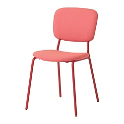KARLJAN - Chair, red/Kabusa red