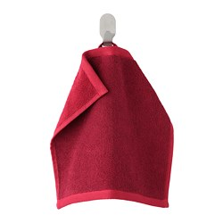 HIMLEÅN - Washcloth, dark red/mélange