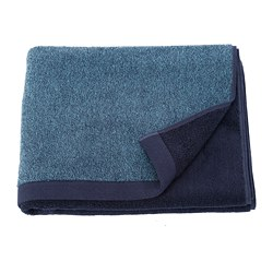 HIMLEÅN - Bath towel, dark blue/mélange