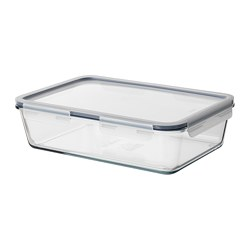 IKEA 365+ - Food container with lid, rectangular/glass plastic