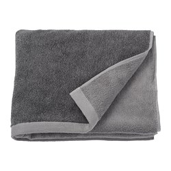 HIMLEÅN - Bath towel, dark grey/mélange